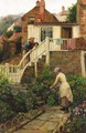 Watering The Garden - Ralph Hedley