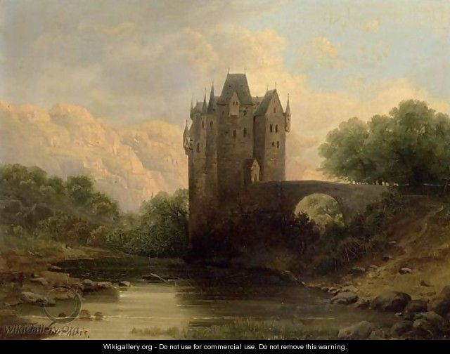A View Of A Castle - Theodore Fourmois