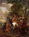 A Cavalry Battle Scene Between Turks And Christians - (after) Abraham Van Calraet