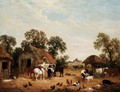 Animals In A Farm Yard - John Frederick Herring, Jnr.