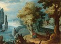 A Wooded Landscape With The Rest On The Flight To Egypt - Flemish School