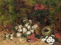 Still Life With Flowers And A Bird Nest - Oliver Clare