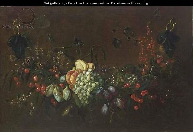 Still Life Of Grapes, Currants, Peaches, Pears And Plums - (after) Adriaen Van Utrecht