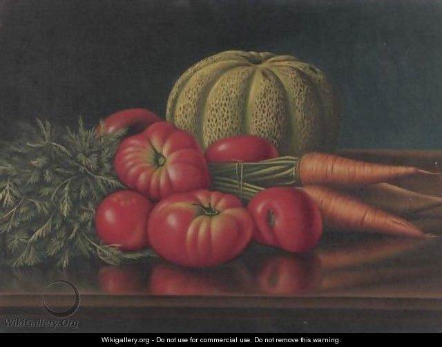 Still Life With Vegetables - Levi Wells Prentice