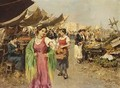 A Vegetable Market In An Italian City - Giovanni Battista Pittoni the younger
