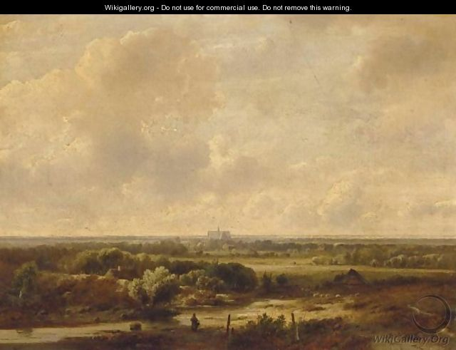 A Panoramic Landscape, Haarlem In The Distance - Pieter Lodewijk Francisco Kluyver