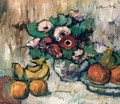 Still Life With Anemones And Fruit - George Leslie Hunter