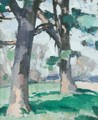 Trees At New Abbey - Samuel John Peploe