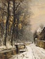 A View Of The Haagse Bos In Winter Time - Louis Apol