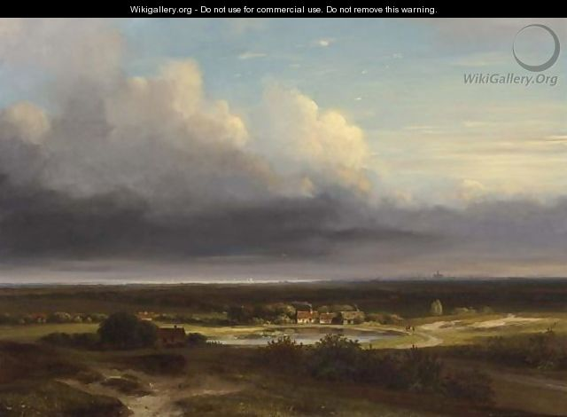 A Panoramic Landscape, Haarlem In The Distance - Nicolaas Johannes Roosenboom