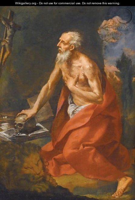 Saint Jerome In The Wilderness - Emilian School