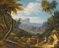An Italianate Landscape With Drovers And Their Animals In The Foreground - Anglo-Flemish School