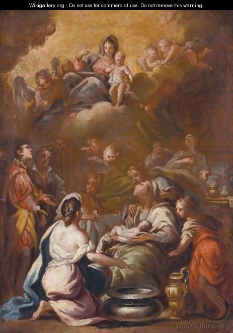 The Birth Of The Virgin - (after) Luca Giordano