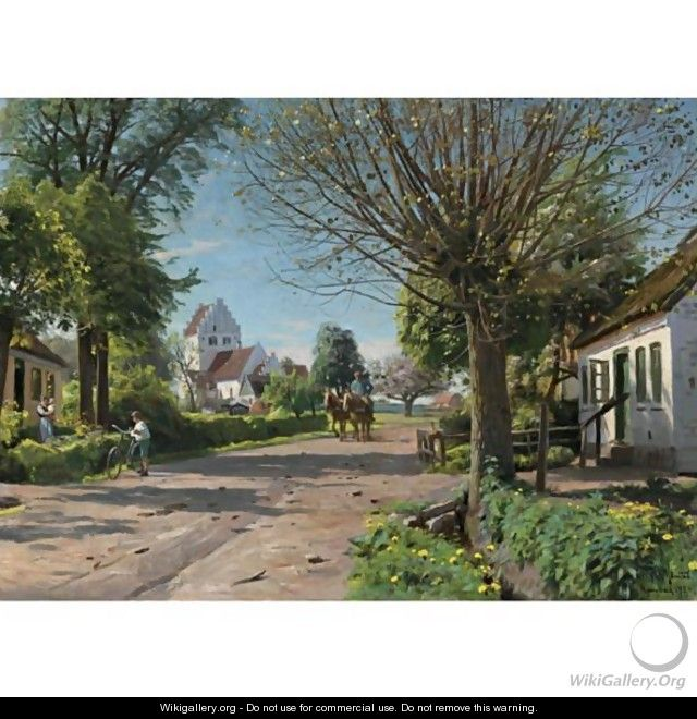 A Village Lane - Peder Monsted