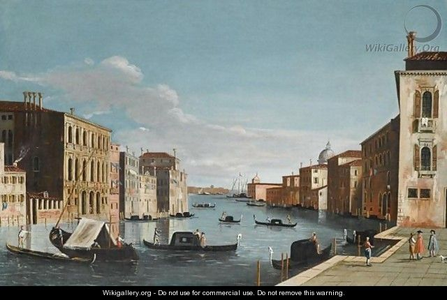 Venice, A View Of The Grand Canal, Looking East, From The Campo Di San Vio - (after) The Master Of The Langmatt Foundation View Domenichini