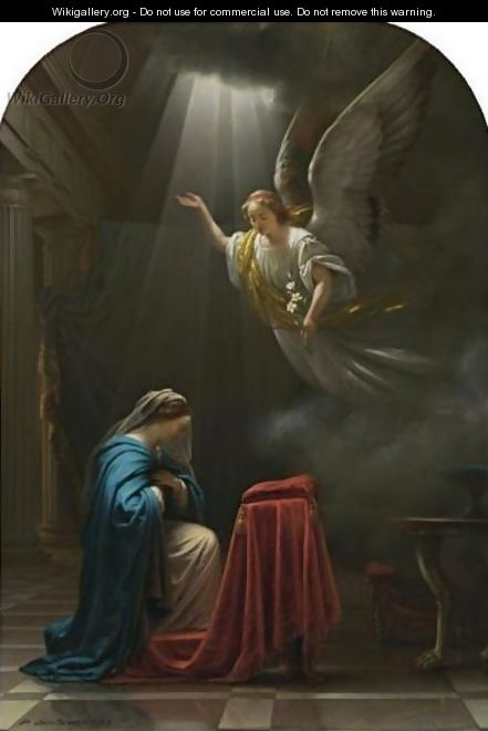 The Annunciation - Petrus Van Schendel