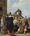A Family Concert On The Terrace Of A Country House A Self Portrait Of The Artist With His Family - David The Younger Teniers