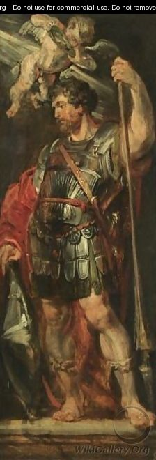 Study Of A Roman Hero Or Martyr Holding A Lance, Possibly Longinus - Peter Paul Rubens