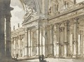 An Architectural Composition With An Arch And Colonnade - Charles Michel-Ange Challe