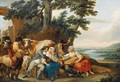 La Recreation Des Moissonneurs - Louis-Joseph Watteau