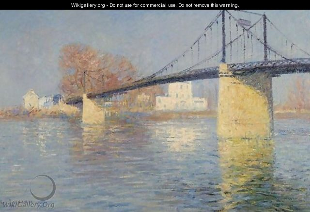 le pont suspendu a triel sur seine gustave loiseau. Black Bedroom Furniture Sets. Home Design Ideas