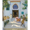 My Studio Door, Tangier - Sir John Lavery