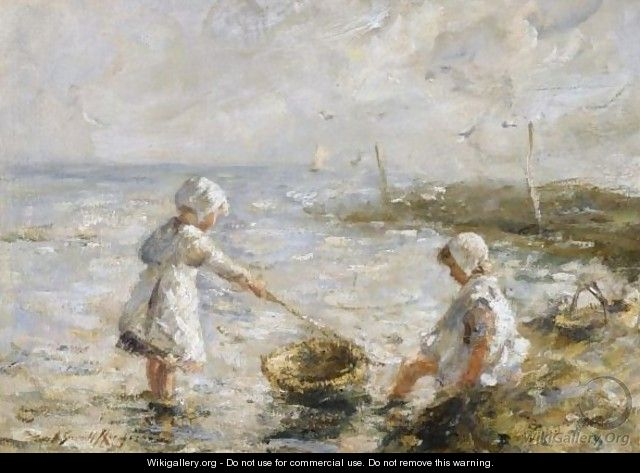 Paddling In The Shallows - Robert Gemmell Hutchison