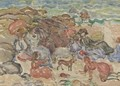 Figures In A Cove - Maurice Brazil Prendergast