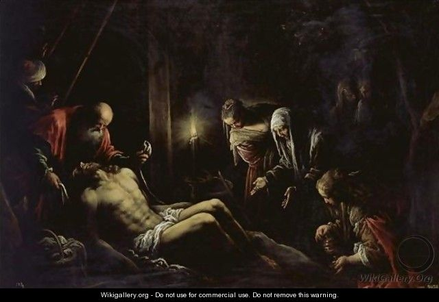 The Lamentation Over The Dead Christ - Francesco Da Ponte (Francesco Bassano Il Giovane)