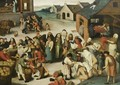 The Seven Acts Of Mercy - (after) Pieter The Younger Brueghel