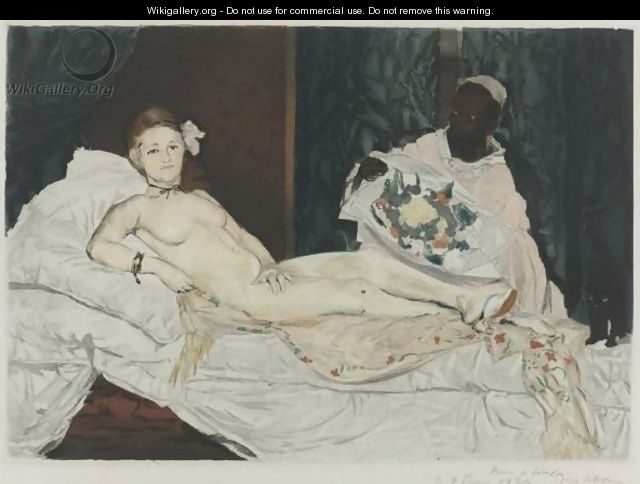 Olympia - (after) Edouard Manet