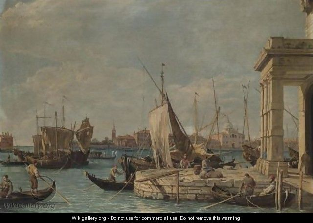 Venice, A View Of The Dogana - (after) (Giovanni Antonio Canal) Canaletto