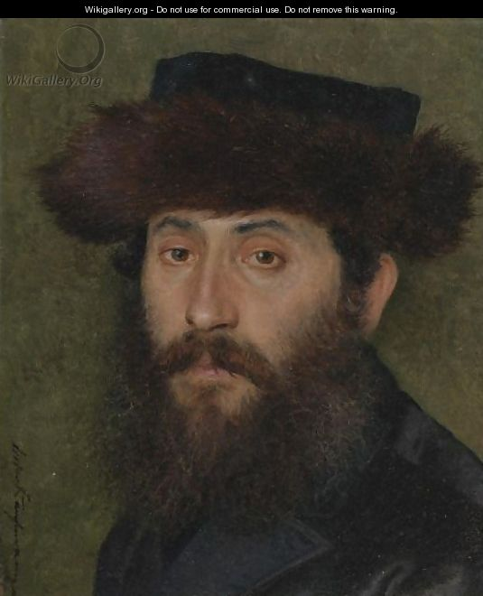 Portrait Of A Man With Streimel - Isidor Kaufmann