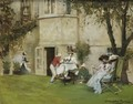 Tea In The Garden - Albert Chevallier Tayler