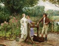 A Flirtation In The Rose Garden - William A. Breakspeare