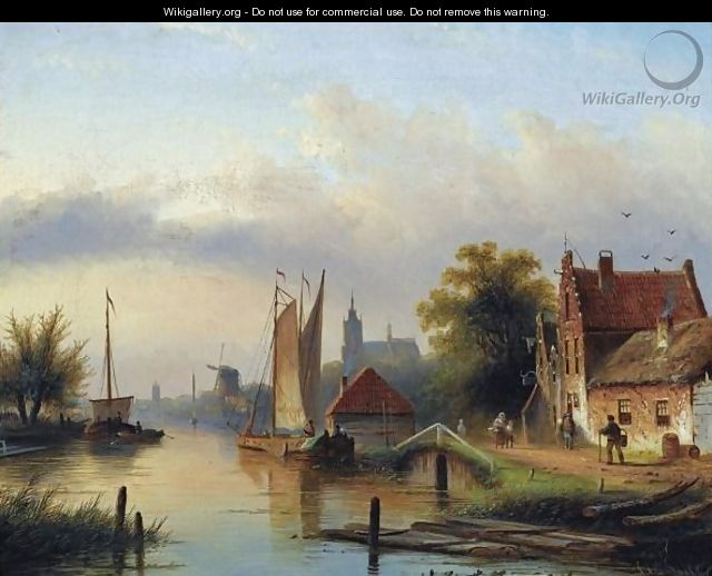 A Town By The River - Jan Jacob Coenraad Spohler