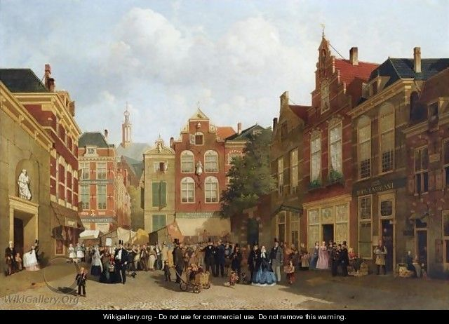The Daily Market On The Groenmarkt With The St. Jacobskerk In The Back, The Hague - Joseph Bles