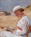 An Interesting Read On The Beach - Louis Hartz