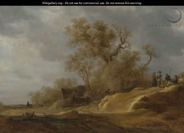 A Dune Landscape With Peasants By A Track 3 - Jan van Goyen