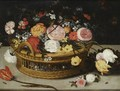 Still Life Of Roses, Tulips, Chrysanthemums, Anemones And Other Flowers - (after) Jan The Elder Brueghel