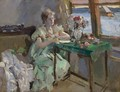 By The Window - Konstantin Alexeievitch Korovin