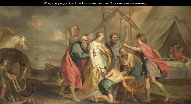 The Return Of Briseis To Achilles - (after) Sir Peter Paul Rubens