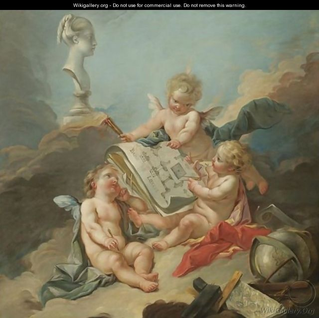 An Allegory Of The Fine Arts - (after) Francois Boucher