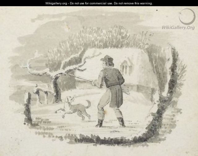A Huntsman With His Dog - Thomas Falcon Bewick