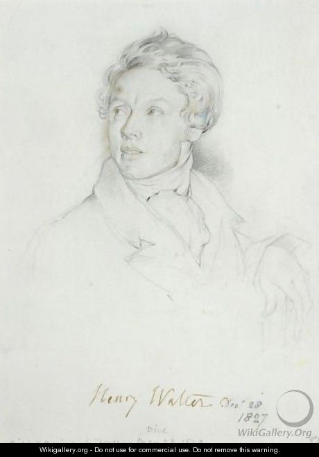 Portrait Of Henry Walter (1799-1849) - George Richmond