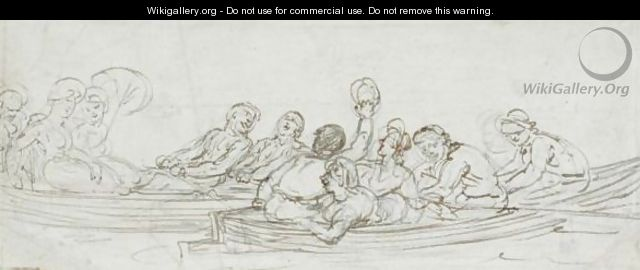 Two Boating Parties - Thomas Rowlandson