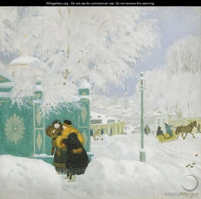Winter Scene - Boris Kustodiev