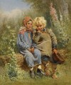 Peasant Children At Rest - Konstantin Egorovich Egorovich Makovsky