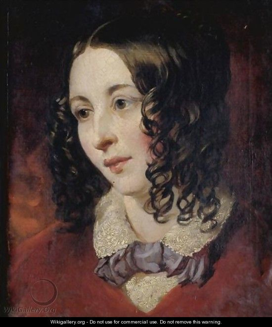 Portrait Of Miss Eliza Cook (1818-1889), Poetess And Editor Of Eliza Cook
