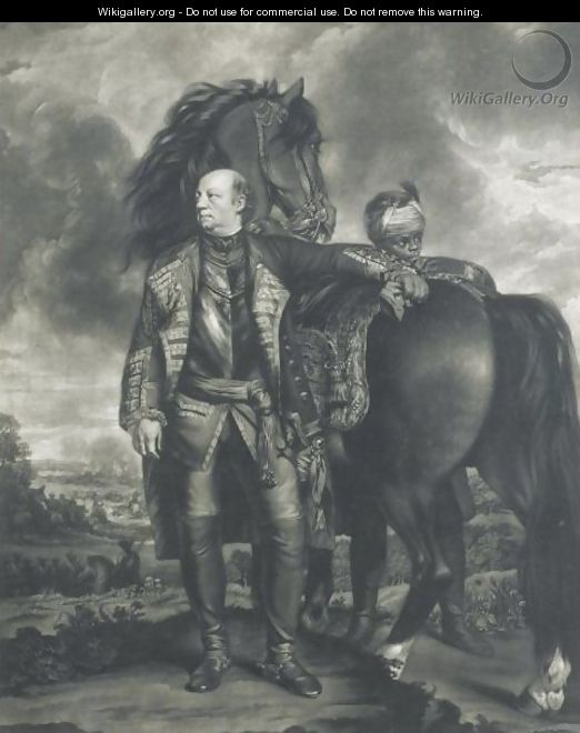 The Honourable John Manners, Marquis Of Granby, Standing Before His Horse - (after) Sir Joshua Reynolds